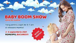 Lansari in premiera si experiente unice la Baby Boom Show,  cel mai mare targ pentru copii si viitoare mamici