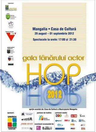 "Gala Tanarului Actor ""HOP"", editia a XV-a, Mangalia, 29 august – 1 septembrie 2012"
