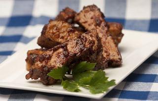 Coaste de porc cu sos barbeque