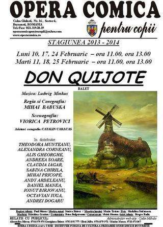 Program spectacole februarie 2014, Opera Comica pentru Copii