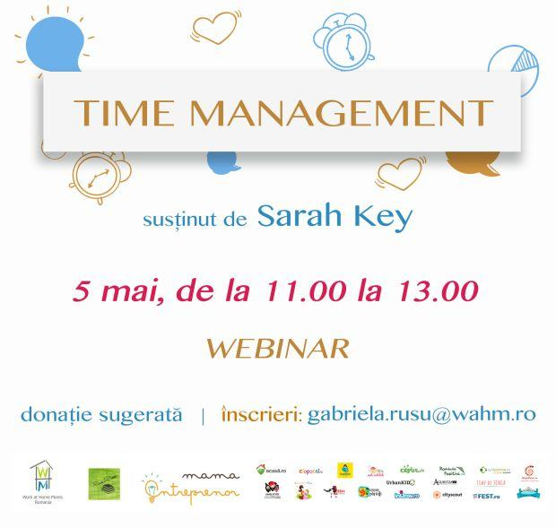 Inscrie-te la Webinar Time Management, eveniment marca Work at Home Moms