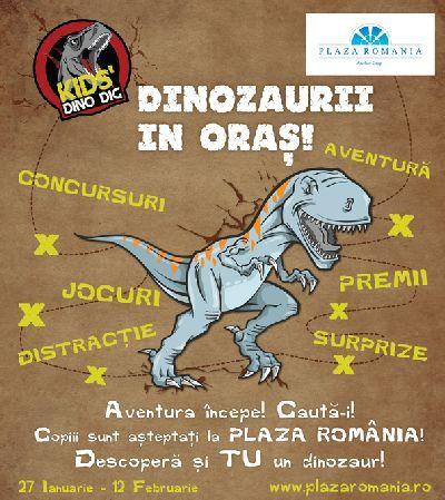 Kids` Dino Dig, lumea preistorica, reinvie in Plaza Romania