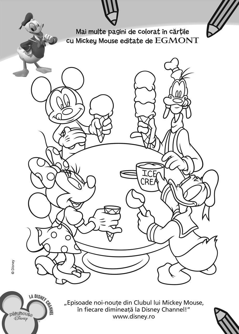 Plansa Mickey Pluto Planse De Colorat Disney Copilulro