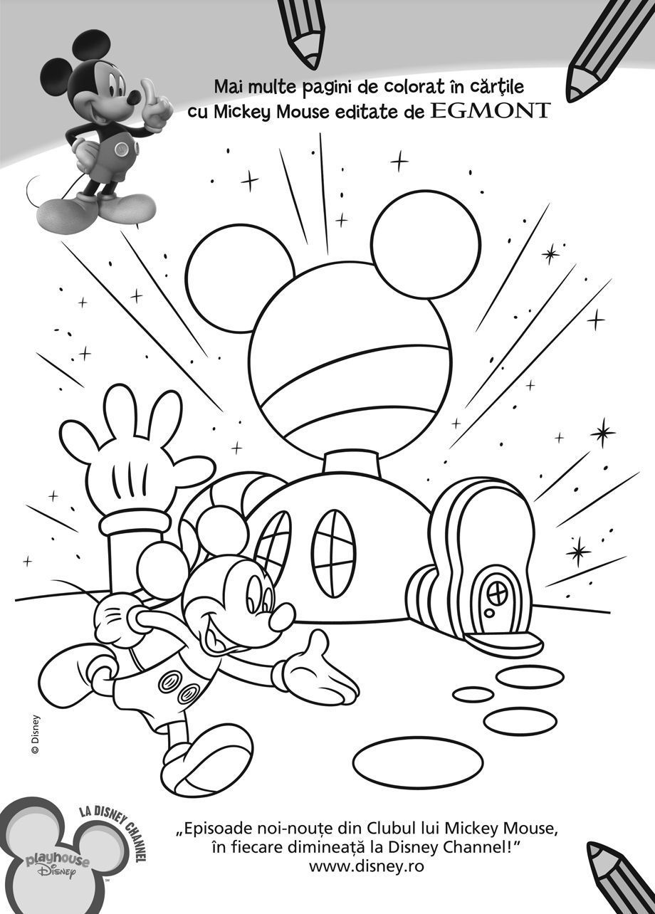 Free coloring pages of mickey mouse