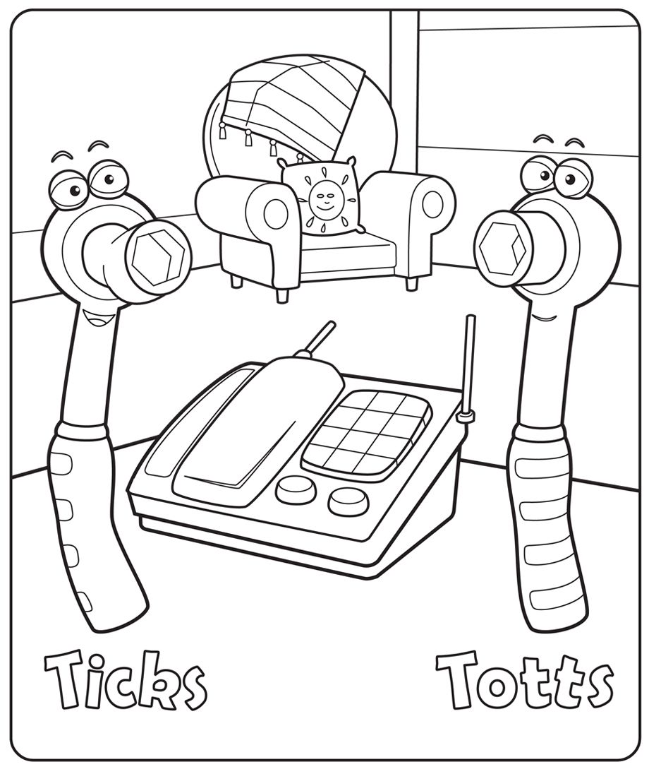 Handy Manny Paragraph Colouring Pages