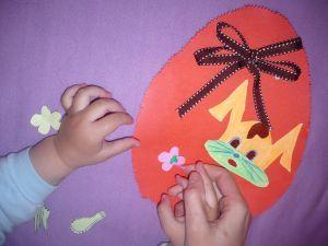 Felicitari dragalase de Paste create de copii