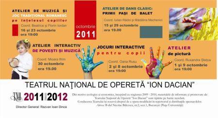 Serile copiilor la Teatrul National de Opereta