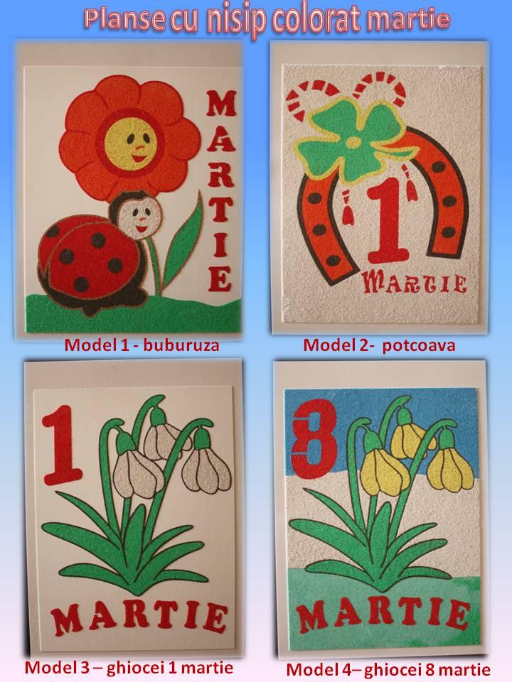 Planse Cu Nisip Colorat 1 8 Martie Jucarii Pentru Copii