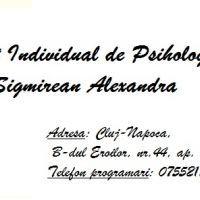 Cabinet Individual de Psihologie Sigmirean Alexandra