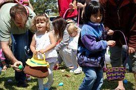 Vanatoarea de oua de Pasti pentru copii